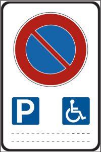 Cartello sosta disabili